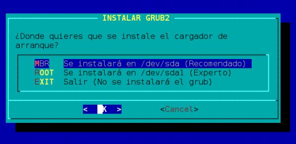 wifislax GRUB boot loader Install