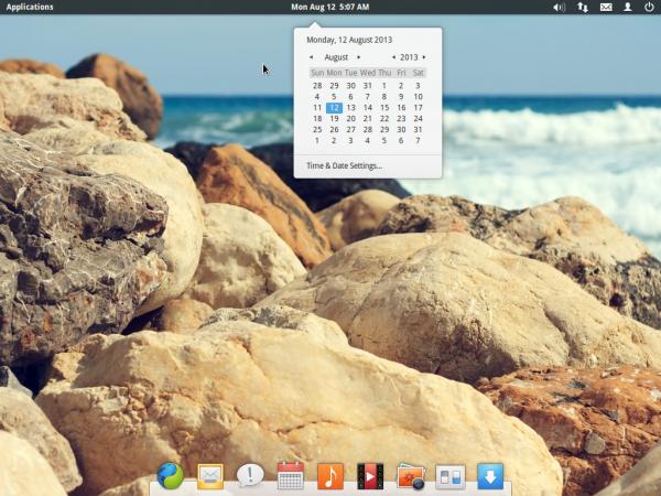 Elementary OS Luna Desktop Calendar