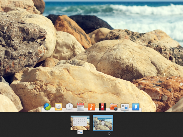 Elementary OS Luna Desktop workspaces virtual desktops