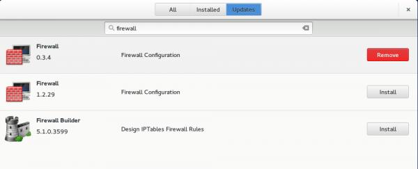 GNOME Software search firewall GNOME Shell GNOME 3