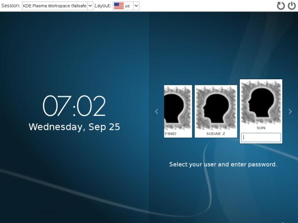 Fedora 20 KDE 4.11 login id
