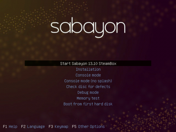 Sabayon Linux SteamBox login