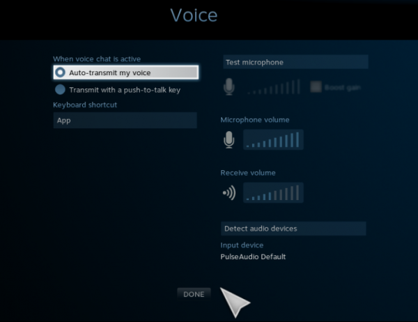 Sabayon Linux SteamBox Steam OS,steam machine voice settings
