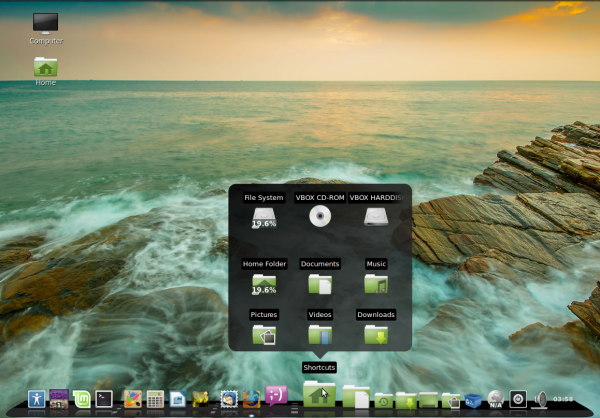 Glx-Dock Cairo-Dock Linux Mint 15 Cinnamon