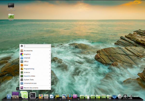 Glx-Dock Cairo-Dock Linux Mint 15 Applet menu