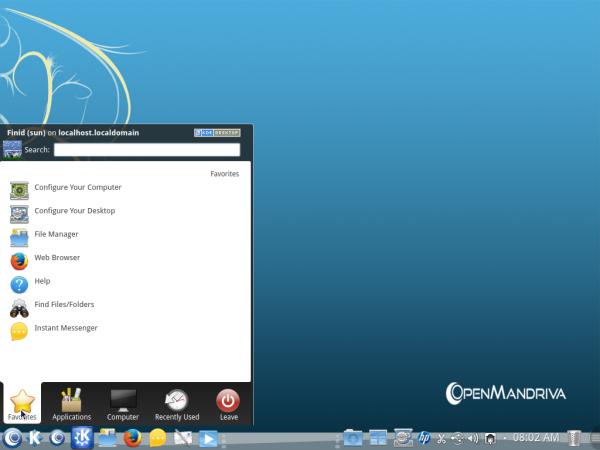 OpenMandriva Desktop Menu Kickoff
