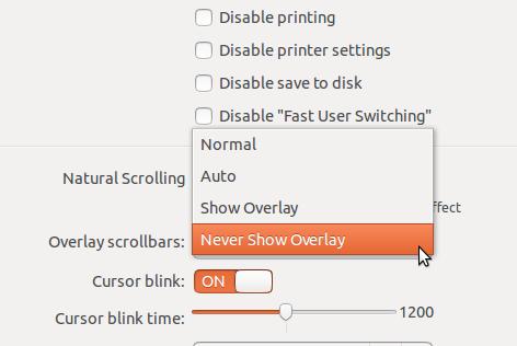 Overlay Scrollbar Ubuntu 13.10