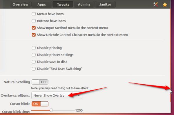 Ubuntu 13.10 no overlay scrollbar