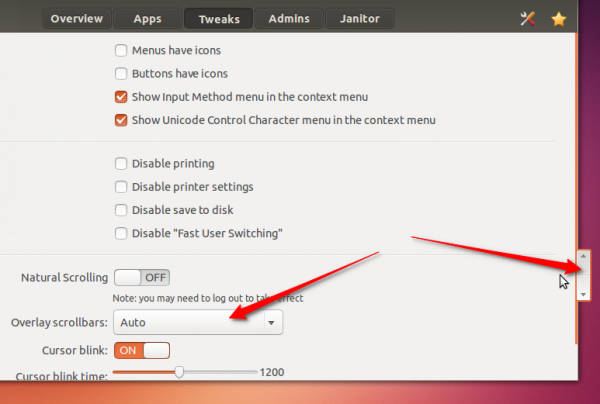 Ubuntu 13.10 overlay scrollbar