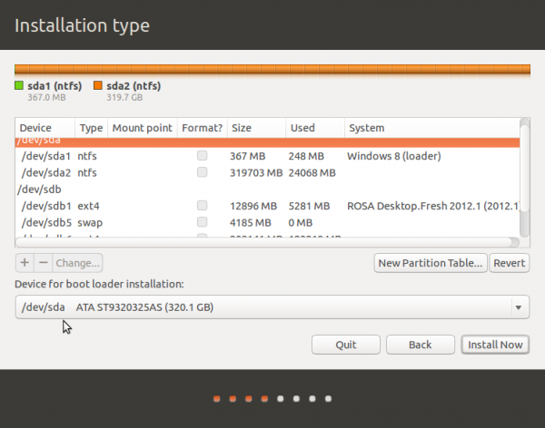Ubuntu 13.10 advanced partitions