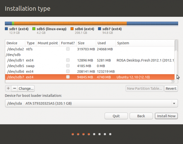 Ubuntu 13.10 erase partitions