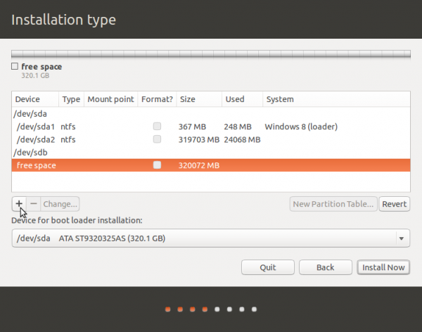 Ubuntu 13.10 disk partitions