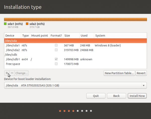 Ubuntu 13.10 add partition