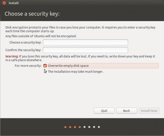 Ubuntu 13.10 disk Encryption passphrase