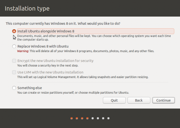 Ubuntu 13.10 Partition methods