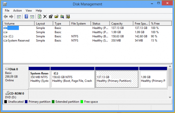 Windows 7 Partition manager