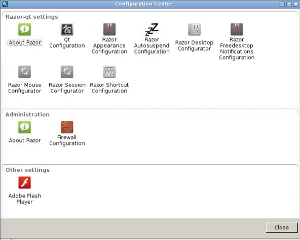 Antergos Razor-qt system settings