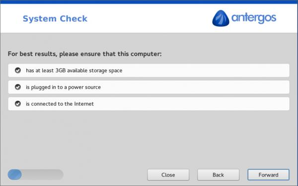 Antergos cnchi installer requirements