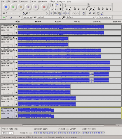 Audacity sound editor import audio tracks