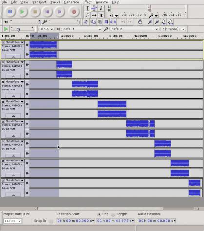 Audacity sound editor align tracks