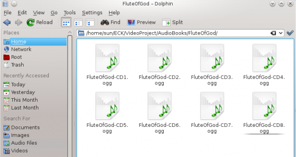 Use K3b and Audacity to convert an 8-CD audiobook to an Ogg