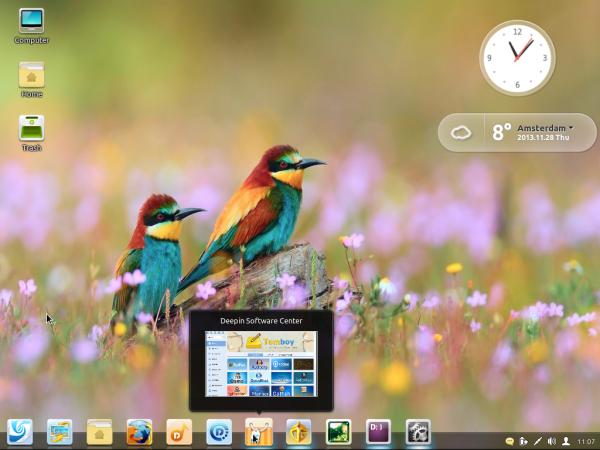 Linux Deepin 2013 Dock