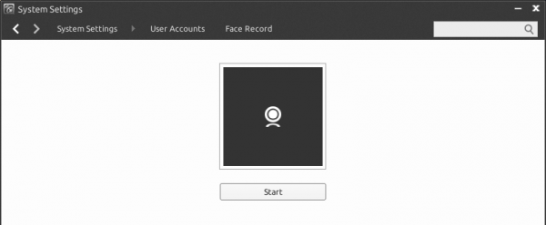 Facial recognition camera login Linux Deepin 2013