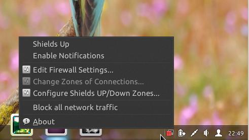 Linux Deepin 2013 firewall-applet