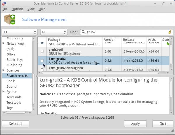 OpenMandriva Lx 2013.0 Kcm-grub2