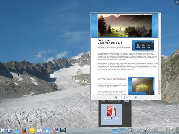 KDE Stackfolder KLook
