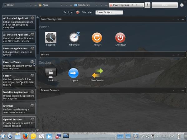 Homerun menu tab setup KDE