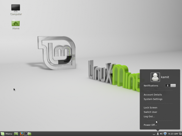 Linux Mint 16 Cinnamon desktop