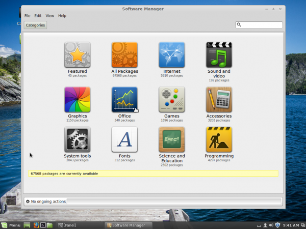 Linux Mint 16 Petra graphical software manager