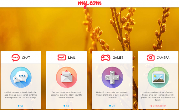 Mail.ru launches My.com, offering mail, chat, games and image editor