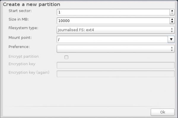 OpenMandrIva Lx disk encryption