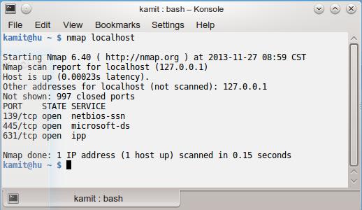 SolydXK KDE 2013.11 nmap scan