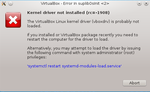 Fedora 19 virtualbox vboxdrv error