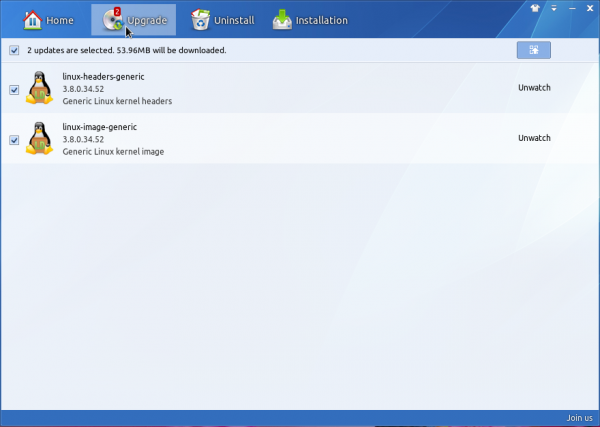 Linux Deepin 2013 app manager