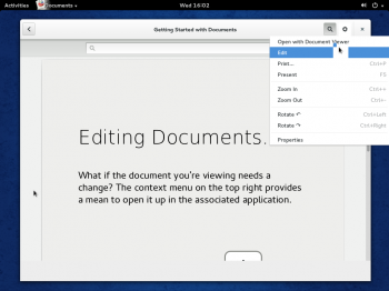 GNOME Documents on Fedora 20 GNOME 3 desktop. Once your online accounts have been configured, you can access and work on your documents as if they are on your local file system.