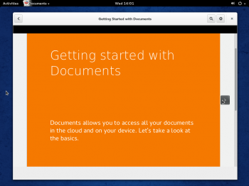 GNOME Documents on Fedora 20 GNOME 3. It lets you access local and remote (online) documents.
