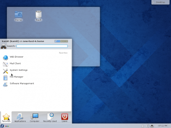 The Kickoff menu is the default menu style on Fedora 20 KDE. But it's not the only one available.