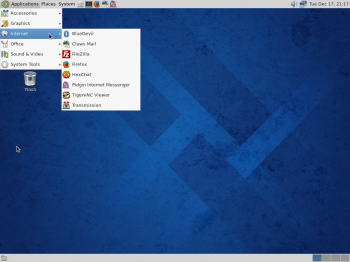 More of the menu on Fedora 20 MATE.