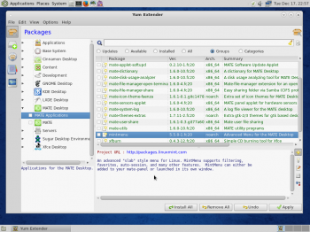 As on Fedora 20 Cinnamon, Yum Extender is the graphical package manager on Fedora 2o MATE.