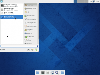 "But the classic menu is not the only option. If you want a desktop menu on the Xfce desktop of Fedora 20, the Whisker menu offers an alternative. Just install the ""xfce4-whiskermenu-plugin"" using Yum Extender."