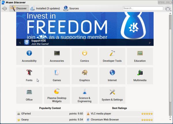 Netrunner 13.12 Muon app manager