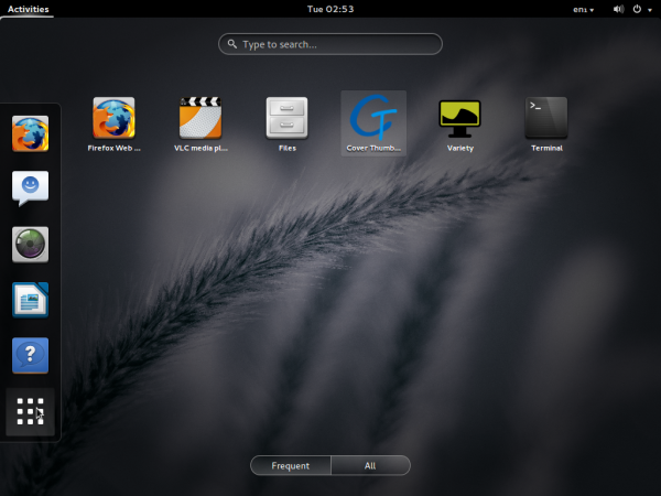 Pinguy 13.10 GNOME Shell apps