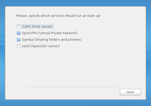 ROSA Desktop Fresh OpenVPN CUPS Samba