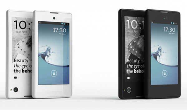 YotaPhone. Always-on dual screen, thicker than most, but not by much