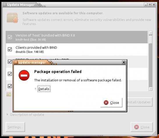 CAINE 5 updates error