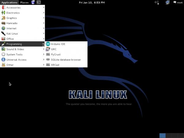 Kali Linux 1.0.6 Arduina IDE